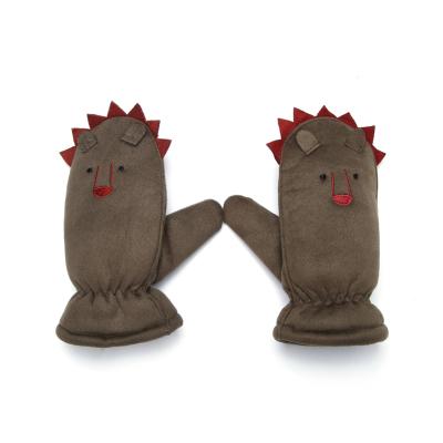 巴拉巴拉兒童手套男童秋冬新品加厚加絨保暖可愛卡通時尚小男孩潮