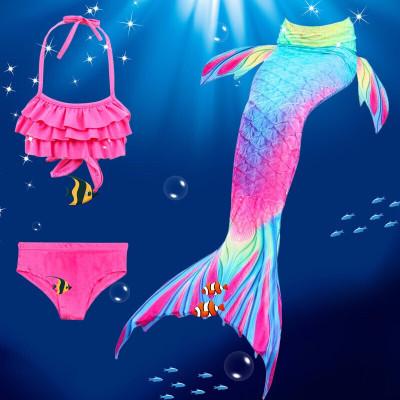 迪鲁奥(DILUAO)儿童晚礼服儿童泳衣美人鱼泳衣女童美人鱼尾巴儿童泳衣套装女童美人鱼衣服公主裙游泳装女孩海滩分体比基尼