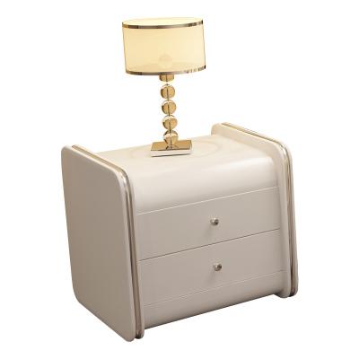 憶斧至家 (YF) 現代臥室皮質床頭柜時尚簡約現代柜子 皮床角邊柜 簡約床邊收納柜
