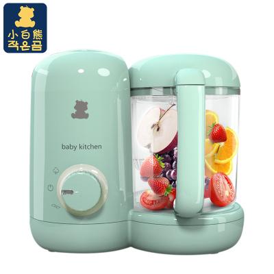 小白熊(XIAOBAIXIONG)多功能母婴幼儿童辅食料理机婴儿蒸煮搅拌一体机 500ml以下 绿色 HL-0973