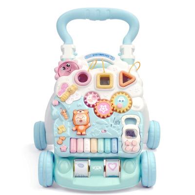 優樂恩(Youleen)嬰兒學步車兒童手推車寶寶助步車嬰幼兒玩具學行車多功能防側翻可調速迪寶熊升級款