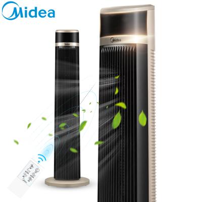 美的(Midea) 电风扇 ZAB10AR 3档正常风 智能遥控控制 7小时定时 摇头定时无叶设计 塔扇电风扇空调伴侣