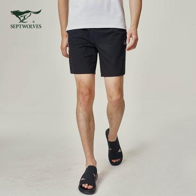 七匹狼運動短褲夏男士輕薄透氣彈力舒適休閑五分褲跑步訓練褲