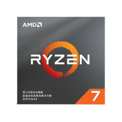 AMD 锐龙7 3700X 处理器 (r7)7nm 8核16线程 3.6GHz 65W AM4接口 盒装CPU 100-100000071CBX