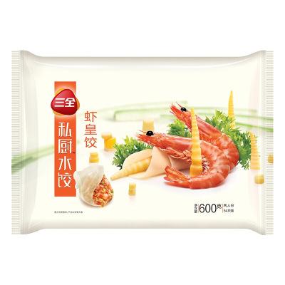三全 私廚蝦皇餃600g(54只) 高端系列蝦仁水餃 兩人份 速凍餃子 方便食品