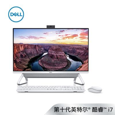 戴尔(DELL)灵越7790 27英寸大屏幕高性能微边框超薄商务一体机台式电脑(十代i7-10510U 16G 1TB+256GB固态 2G独显 无线键鼠 白色)标配