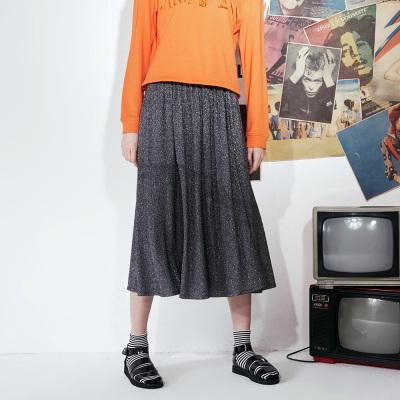 【3件1.5折价:25.4】美特斯邦威半身裙女秋装新款半身裙中长款a字裙半身裙