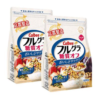 2件裝|CALBEE卡樂比 水果麥片減糖麥片600g