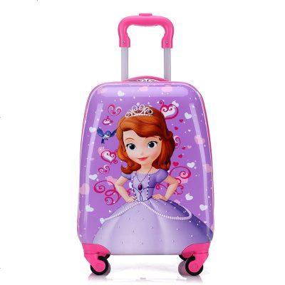 景荣儿童拉杆箱男女孩卡通旅行箱定制16寸18寸小学生宝宝行李箱万向轮 苏菲亚18寸