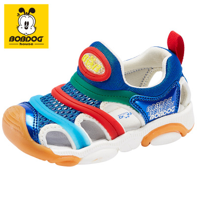 BOBDOG HOUSE巴布豆童鞋兒童涼鞋2019夏季男童女童毛毛蟲寶寶沙灘鞋子B6282