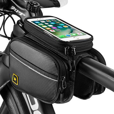 酷改自行車包前梁包山地車馬鞍包觸屏手機上管包防水騎行裝備配件