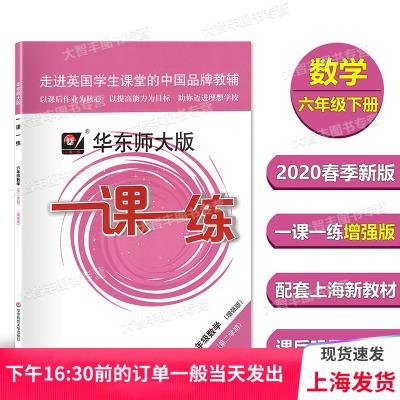 2020春新版 華東師大版 一課一練 數學 增強版 六年級第二學期/6年級下 上海版教材配套教輔 華東師范大學出版社 華