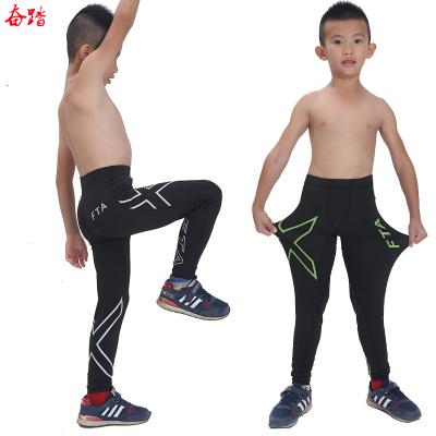 秋冬兒童運動緊身褲健身長褲速干足球籃球打底褲彈力褲男跑步訓練