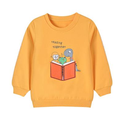 鉛筆俱樂部童裝2020秋款小童圓領長袖T恤男童純棉衛衣上衣卡通