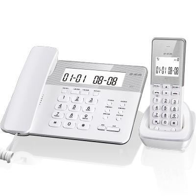 步步高(BBK) W201 数字无绳固定电话机 家用办公无线座机子母机 双免提 一键存拨 三方通话(晶莹白)