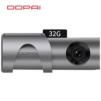 盯盯拍 智能行車記錄儀mini3Pro 1600P超高清夜視 內置eMMC存儲 WiFi互聯 停車監控灰色32G