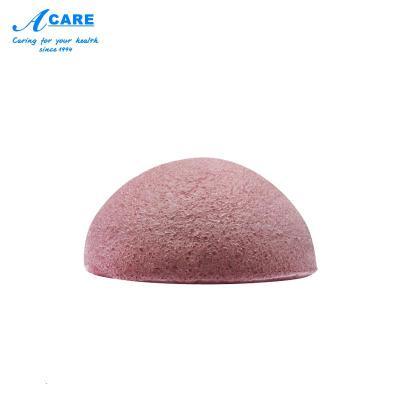 acare艾呵 天然魔芋洗臉潔面撲粉色潔膚球植物去角質黑頭蒟蒻洗顏棉海綿日本
