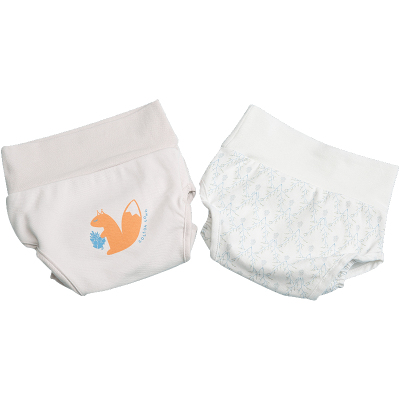 棉花堂嬰兒高腰防水尿布兜純棉新生介子布寶寶尿布褲可水洗兩件裝