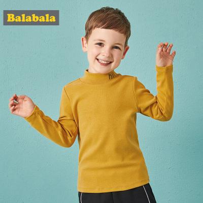 巴拉巴拉宝宝长袖T恤儿童男童童装冬装宝宝上衣半高领男小童洋气