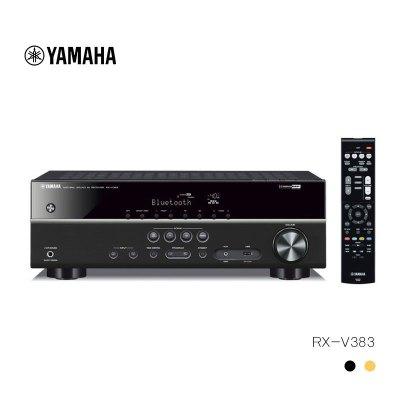 Yamaha/雅马哈 RX-V383 数字5.1家庭影院功放大功率蓝牙 USB收音 黑色