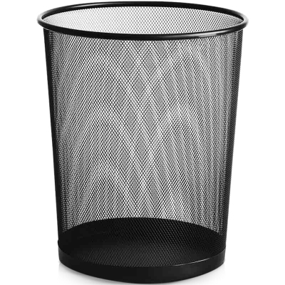 欧宝美中号金属网垃圾桶 办公室厨房卫生间家用清洁桶 办公环保纸篓