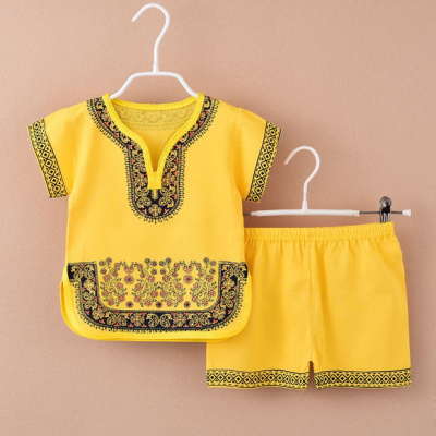 2020夏季男女童唐裝套裝國學服夏裝短袖棉綢中國風兒童寶寶兩件套莎丞