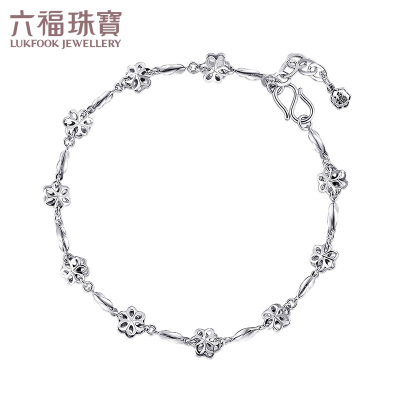 六福珠宝 PT950 杨桃链冰凌花 铂金手链计价L06TBPB0005