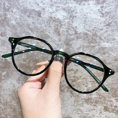 防藍光輻射電腦護目近視眼鏡女黑框素顏神器眼睛框可配度數潮