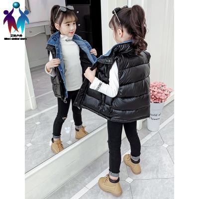 【厂家直营】女童马甲冬季外穿2019新款羽绒棉儿童加厚假两件洋气马夹坎肩冬装