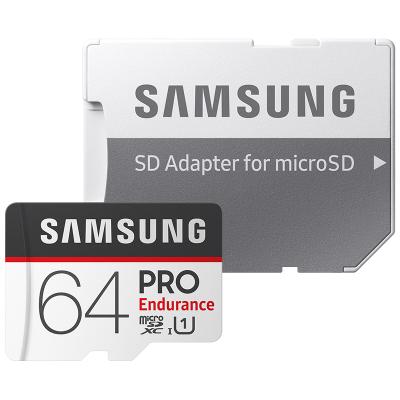 三星microSD存儲卡64G 高度耐用4K高清Class10存儲卡手機TF內存卡平板監控攝像頭通用行車記錄儀專用閃存卡