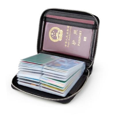 欧凡卡蒂40页大容量多卡位卡包男士真皮卡片包信用卡夹银行卡套女式名片包