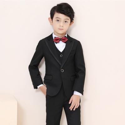 新品热卖儿童礼服男童西装套装帅气春秋男孩小西服钢琴表演服演出服走秀潮款
