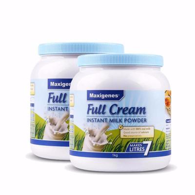 Maxigenes美可卓 澳洲進口奶粉藍胖子全脂高鈣青少年中老年學生成人牛奶粉 1kg/罐 2罐裝