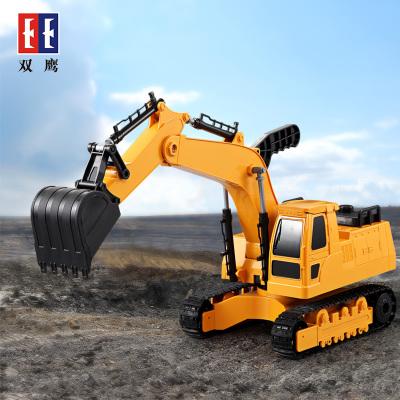 双鹰doubleeagle 儿童手动挖掘机玩具车 1:24大号勾机挖土机