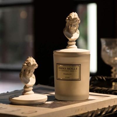 瑞仕茲 藝術像蓋無煙精油香氛香薰蠟燭杯伴手盒家居擺件工藝禮品除臭異味創意精致生日禮物ins網紅送閨蜜女友朋友禮物