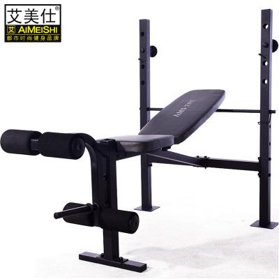 多功能舉重床杠鈴床套裝家用健身器材深蹲架艾美仕 臥推架舉重床+70kg+1.5杠桿