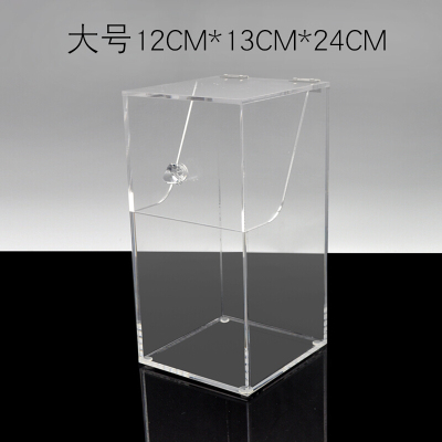 亞克力化妝刷桶收納筒盒配珍珠盒子翻蓋防塵套裝刷美妝刷具桶 大款不含珍珠