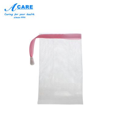 acare艾呵 起泡網洗面奶搓手工香皂打泡器泡沫潔面肥皂網發泡袋子洗臉部專用方形中號1個