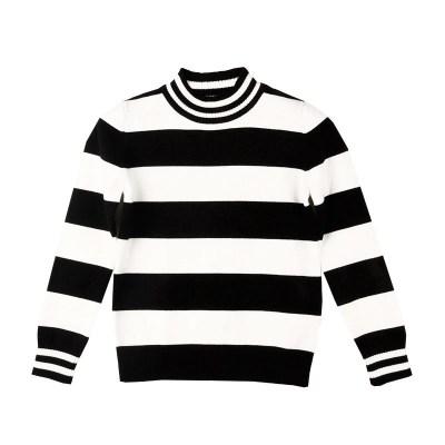 鉛筆俱樂部童裝秋冬新款女童樽領針織衫半高領大童兒童毛衣百搭