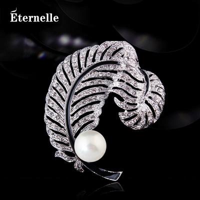 法國Eternelle雜志同款仿珍珠胸針 波西米亞女胸花絲巾扣七夕禮物