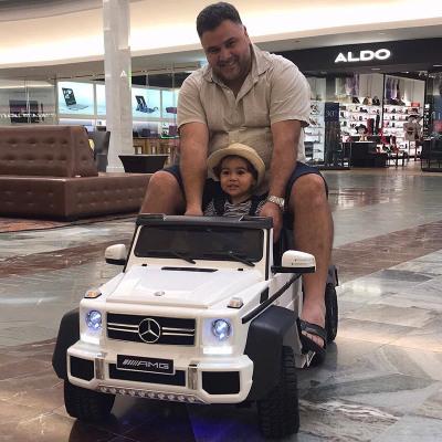 【正版授權】奔馳大g兒童電動車超大小孩玩具車可坐大人寶寶電動汽車四輪兒童汽車遙控車四驅雙人座親子車帶搖擺六輪越野車