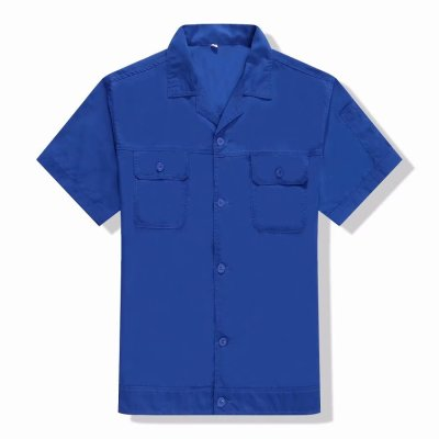 LS-1867純色工作服短袖套裝 上衣