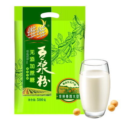 维维原味豆浆粉500g/袋青少中老年人无添加蔗糖豆奶