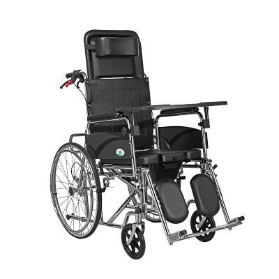 【贈毛毯】可孚帶坐便輪椅折疊手推車輕便老人老年人殘疾人輪椅 全躺多功能便攜代步帶手剎手推車Cofoe普通輪椅