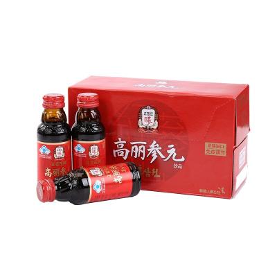 正官庄(Korean Red Ginseng)高丽参元饮料100ml*10 韩国原装进口 六年根人参饮料 韩国人参