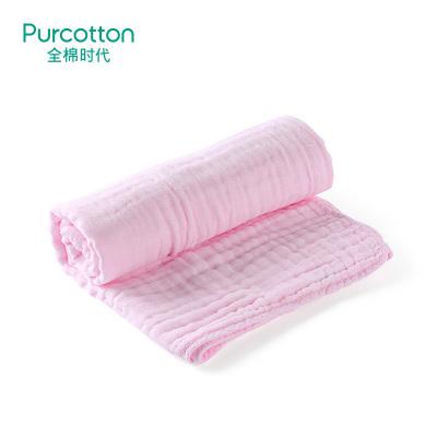 全棉時代 嬰兒浴巾母嬰幼兒紗布浴巾新生兒寶寶浴巾純棉紗布包邊款115x115-6P,1條/盒