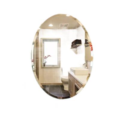 圆镜椭圆浴室镜卫生间免打孔壁挂洗手间厕所贴墙化妆台镜定制镜子