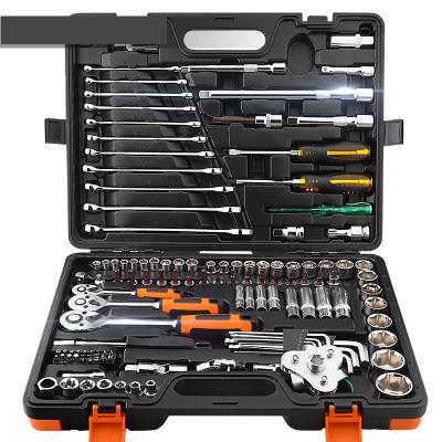 阿斯卡利(ASCARI)汽修工具套筒套装棘轮快速套筒扳手套装汽车五金工具箱多功能小飞+大飞61件套