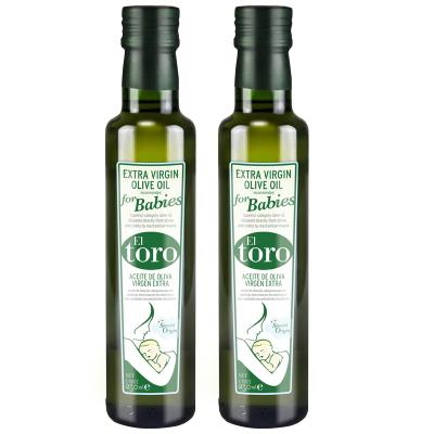滔利ELTORO特級初榨橄欖油食用油兒童系列西班牙原瓶進口250ML*2瓶