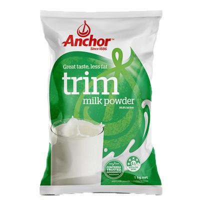 【產自新西蘭】安佳(Anchor)成人脫脂奶粉 1kg/袋 進口奶粉 1000g 學生奶粉 進口食品 澳大利亞進口